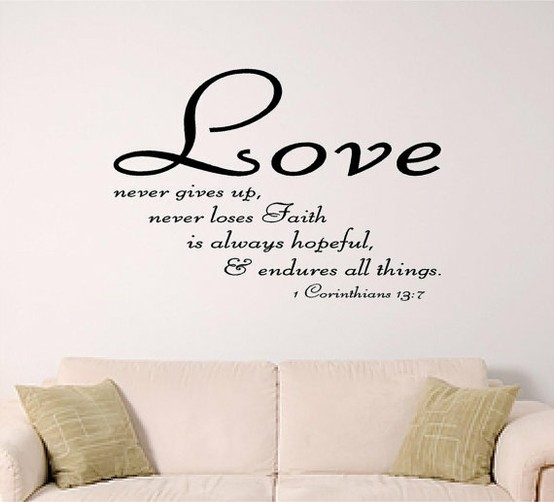 bible verse wall art Love by SignGuysAndGal on Etsy, $19.00 This