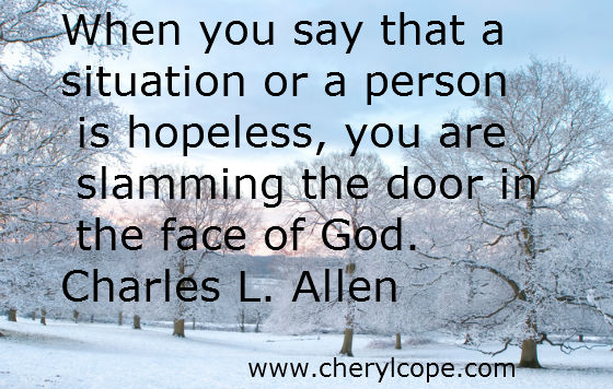 Christian Quotes on Hope part 1 | Cheryl Cope