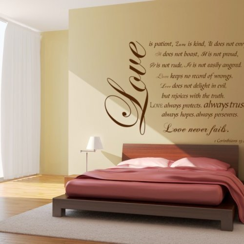 Love is Patient Bible Verse / quotes Vinyl Decal Large