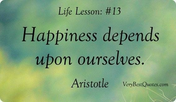 Quotes about happiness happiness quotes happiness depends upon