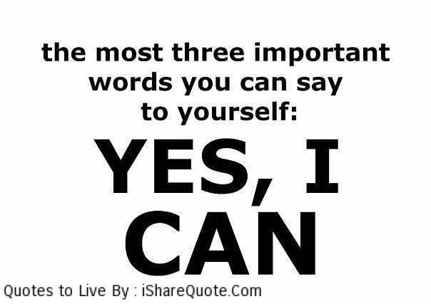 The most three important words