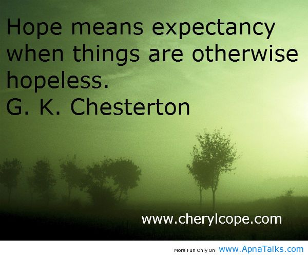 hope means expectancy quotes hope - Apna Talks