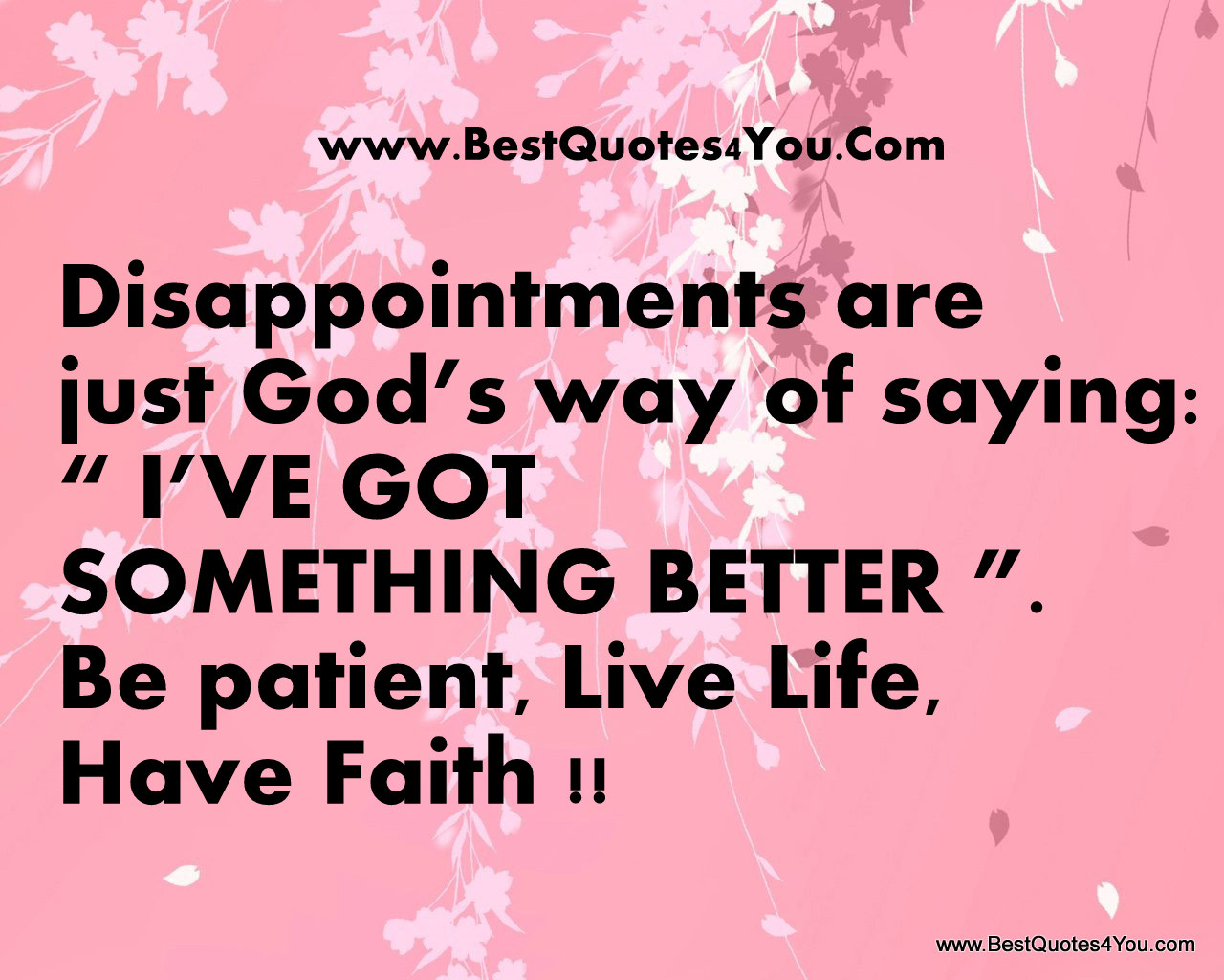 Good Quote about Disappointments in Life - quoPic